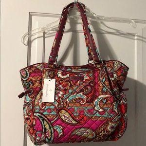 ffd51ed87 ... NWT Calvin Klein Satchel Handbag VERA BRADLEY ICONIC GLENNA SATCHEL  REGAL PAISLEY ...